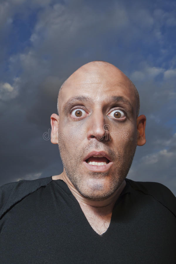 Download Man Looking Shocked In Fear Stock Image - Image: 28561169