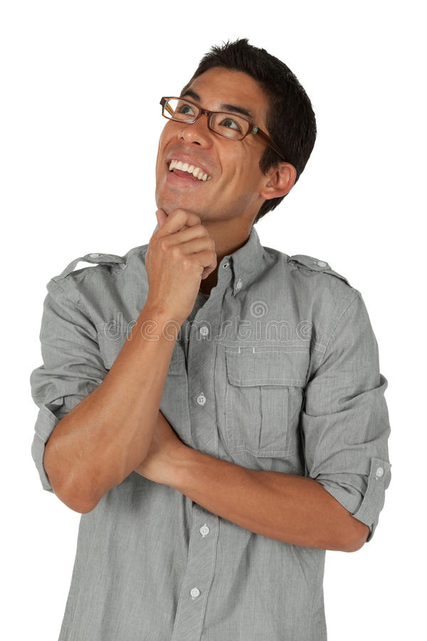 Download Man Looking Up And To The Left Stock Photo - Image: 26833370