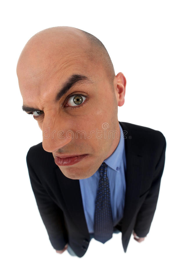 Man looking very angry royalty free stock photo