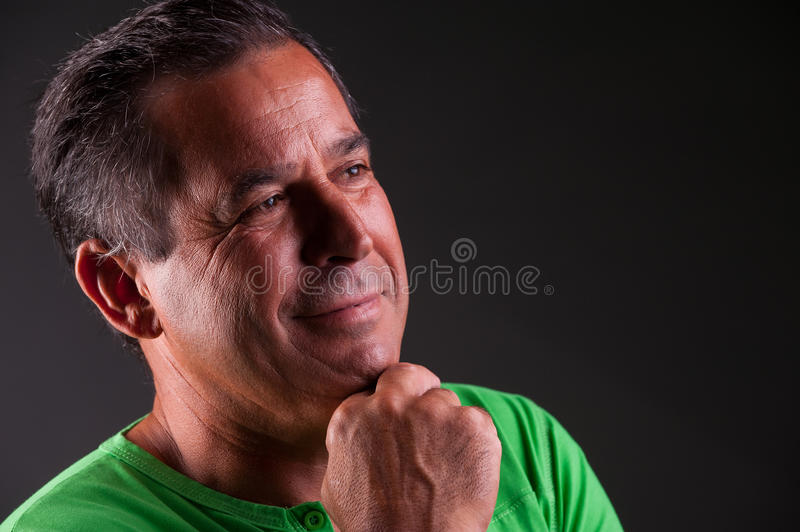 Download Man Lookng Happy And Serene Stock Photo - Image: 39279642