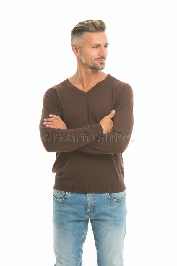Man looks handsome in casual style. Guy wear casual outfit. Fashion for daily life. Fashion concept. Handsome fashion. Model. Feeling casual and comfortable stock photos