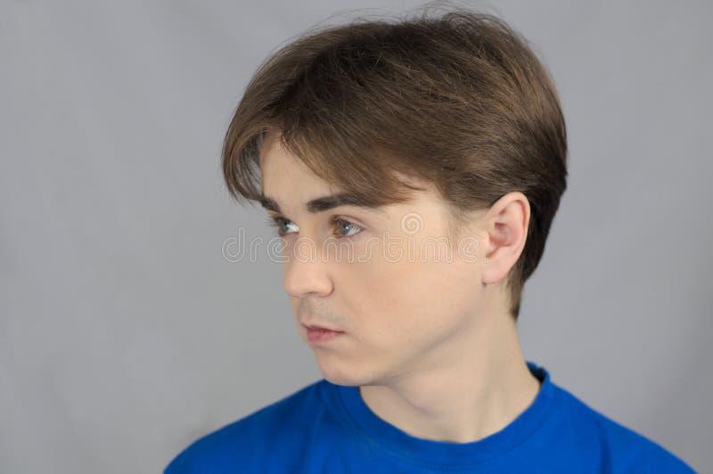 Man looks left stock image