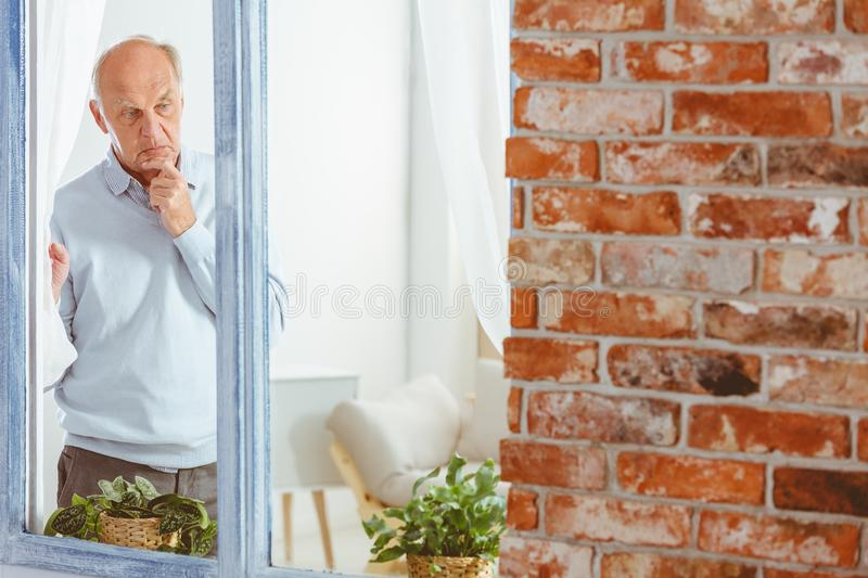 Man lost in thought royalty free stock images
