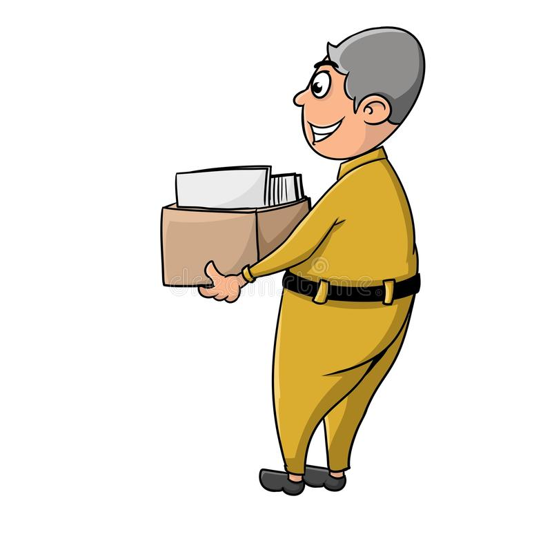 Man with lot paper folder royalty free stock photos
