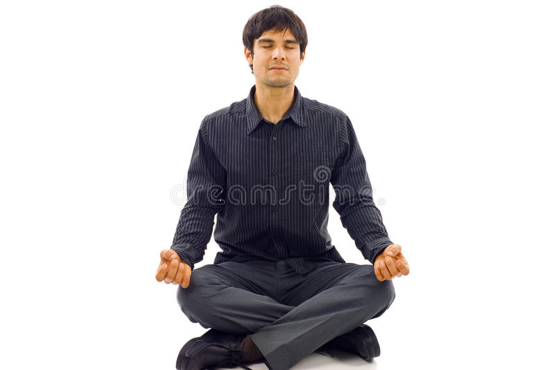 Download Man In Lotus Position Royalty Free Stock Photos - Image: 12774388