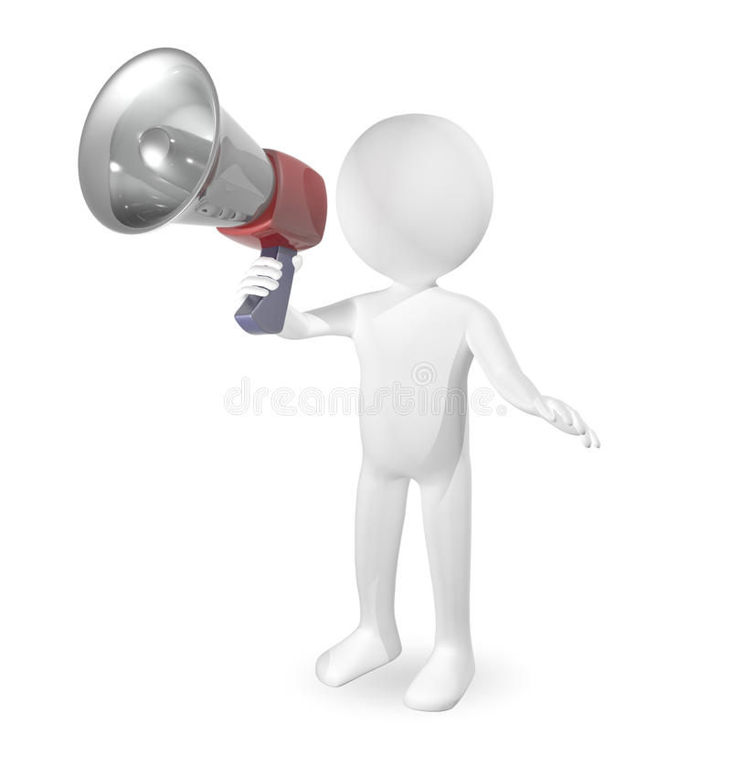 Man With A Loudspeaker Stock Image