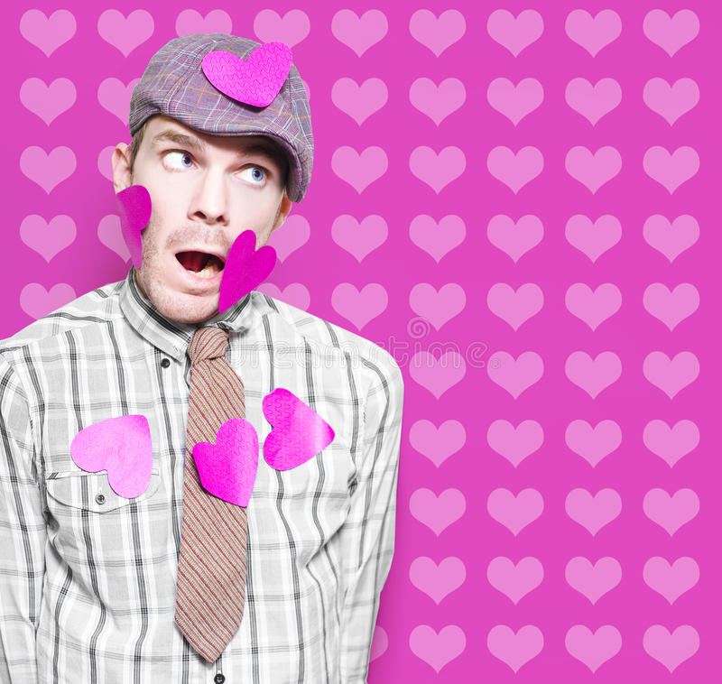 Download Man In Love Romance On Heart Design Background Stock Image - Image: 27491741
