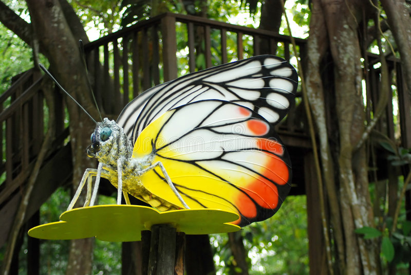 Man made butterfly royalty free stock photo