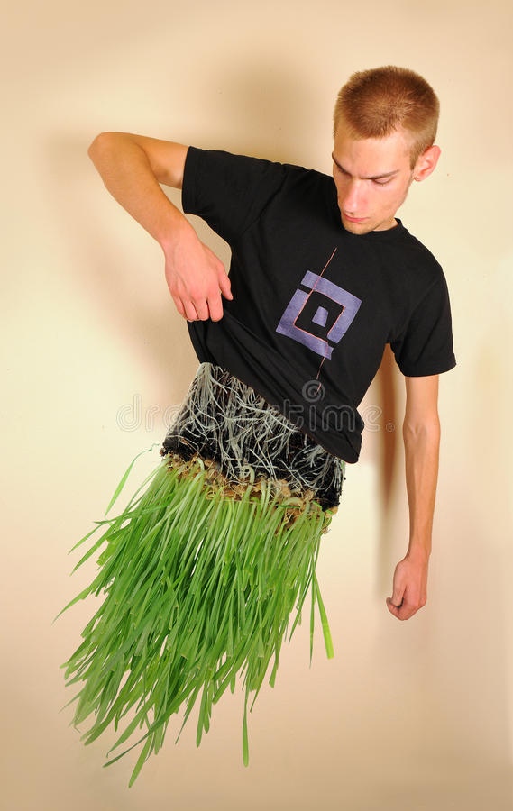 Download Man made of Grass stock image. Image of gent, levitate - 22794159