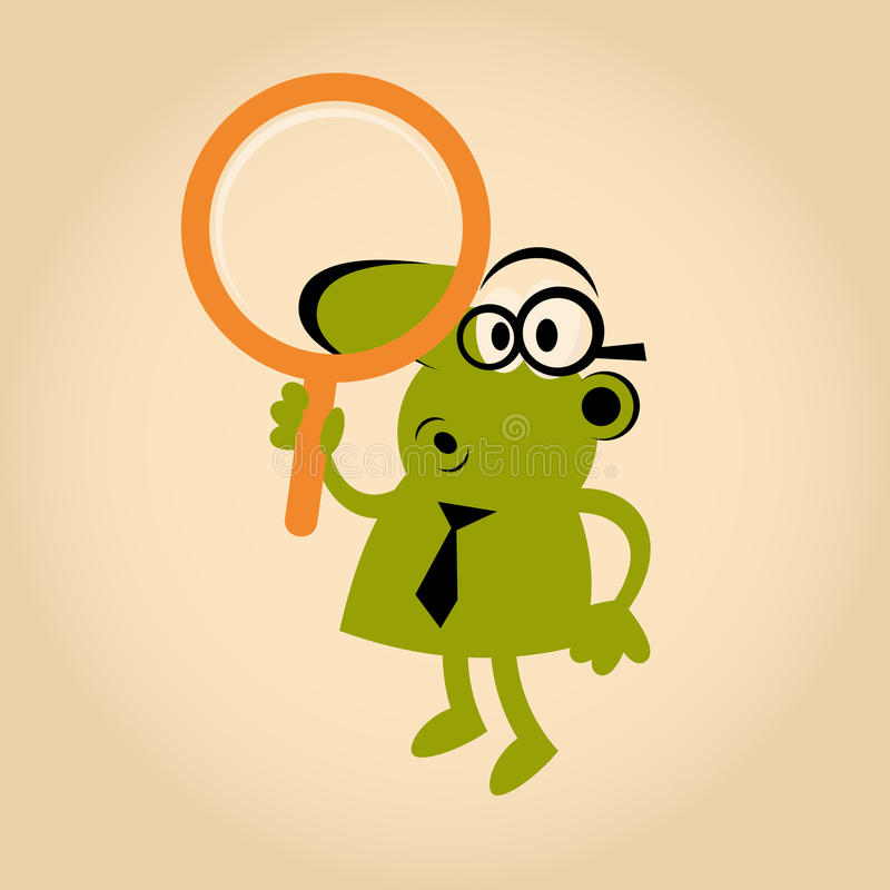 Download Man with magnifying glass stock vector. Image of detail - 24167545