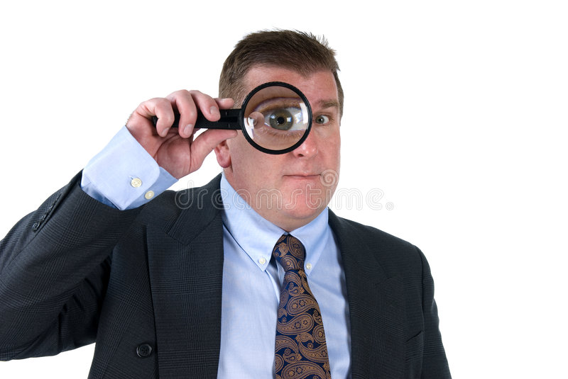 Download Man with magnifying glass stock image. Image of concepts - 7774583