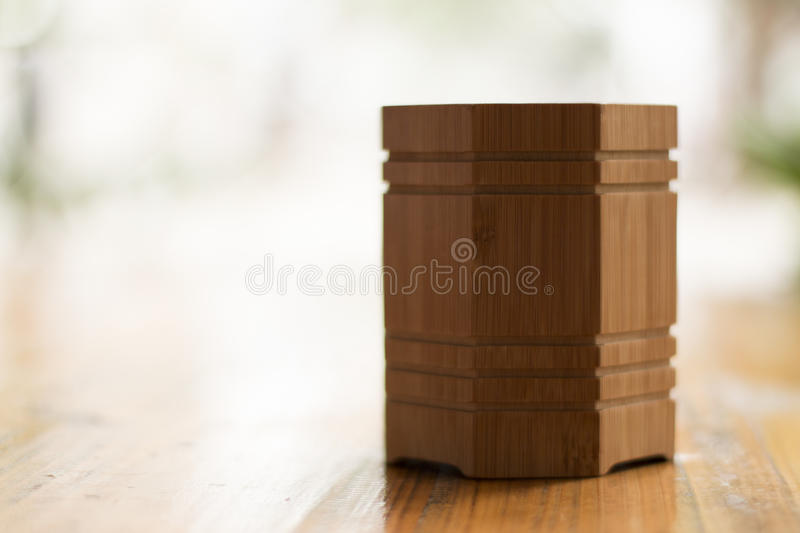 A man-make wooden holder royalty free stock image
