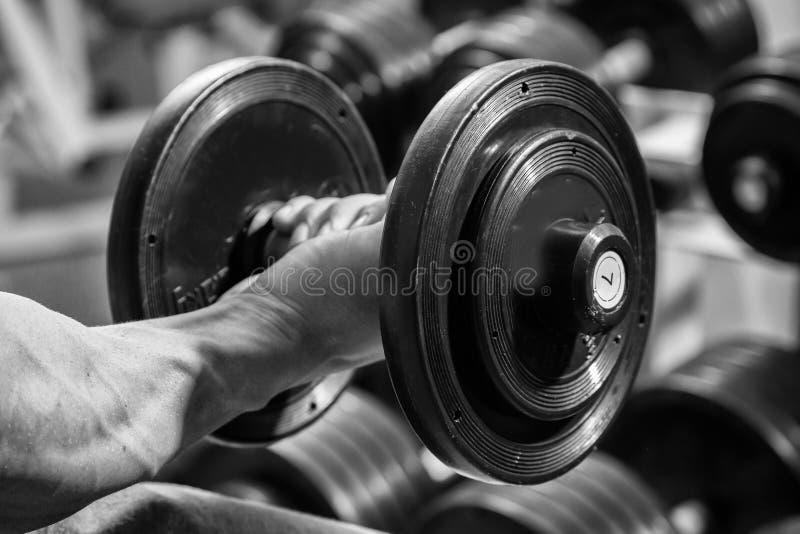 Man makes exercises royalty free stock photos