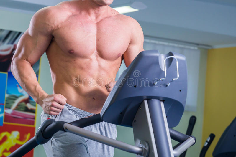 Man makes exercises royalty free stock image