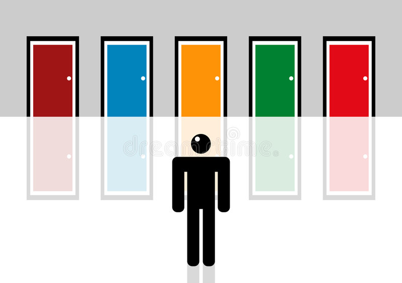 Download Man making decision stock illustration. Illustration of illustration - 6217426
