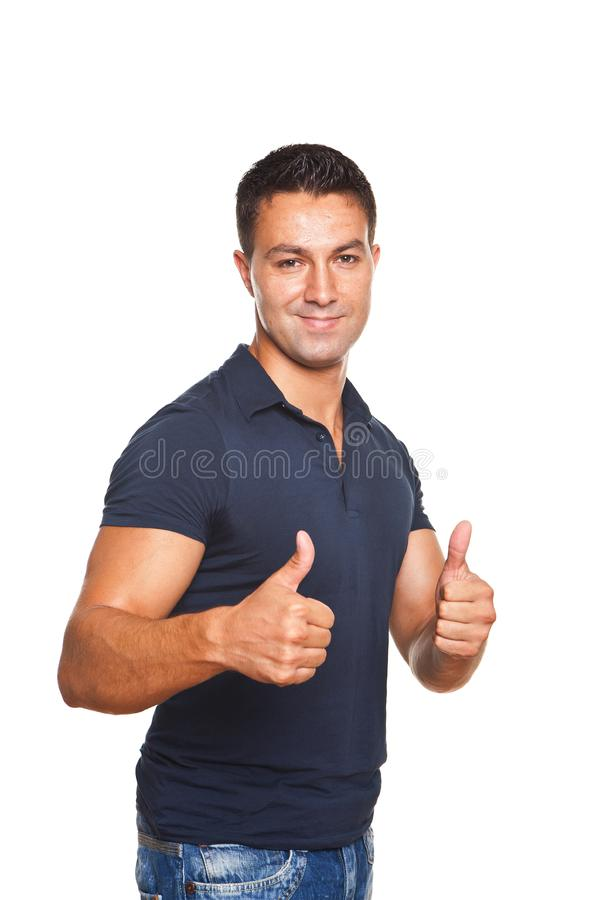 Download Man Making Ok Sign With Both Hands Stock Photo - Image of person, emotion: 21103626