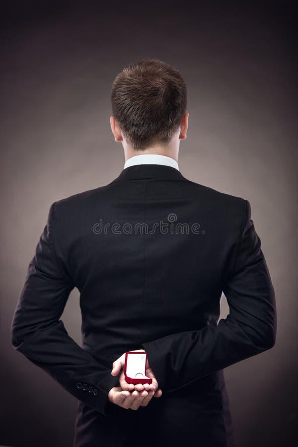 Man making proposa stock image