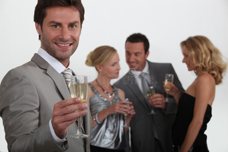 Man making a toast