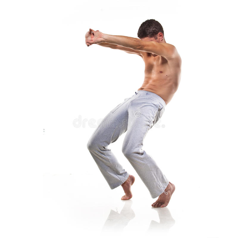 Man Is Making Yoga Royalty Free Stock Photography