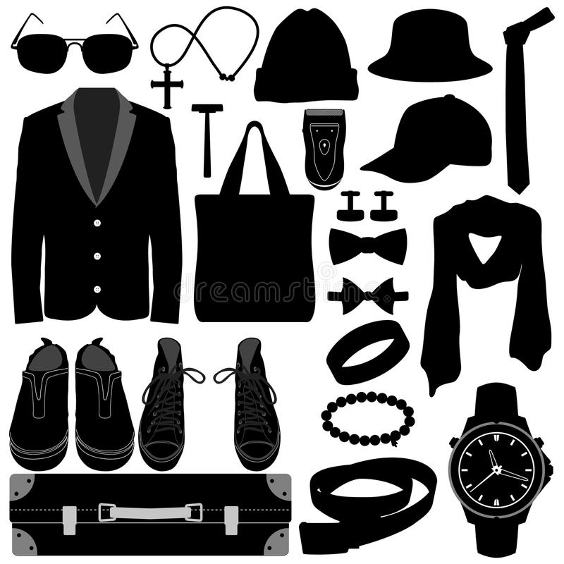 Download Man Male Clothing Wear Accessories Fashion Design Stock Images - Image: 25897844