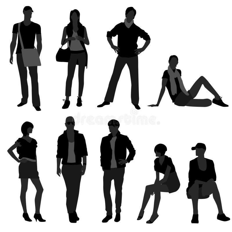 Man Male Woman Female Fashion Shopping Model royalty free illustration