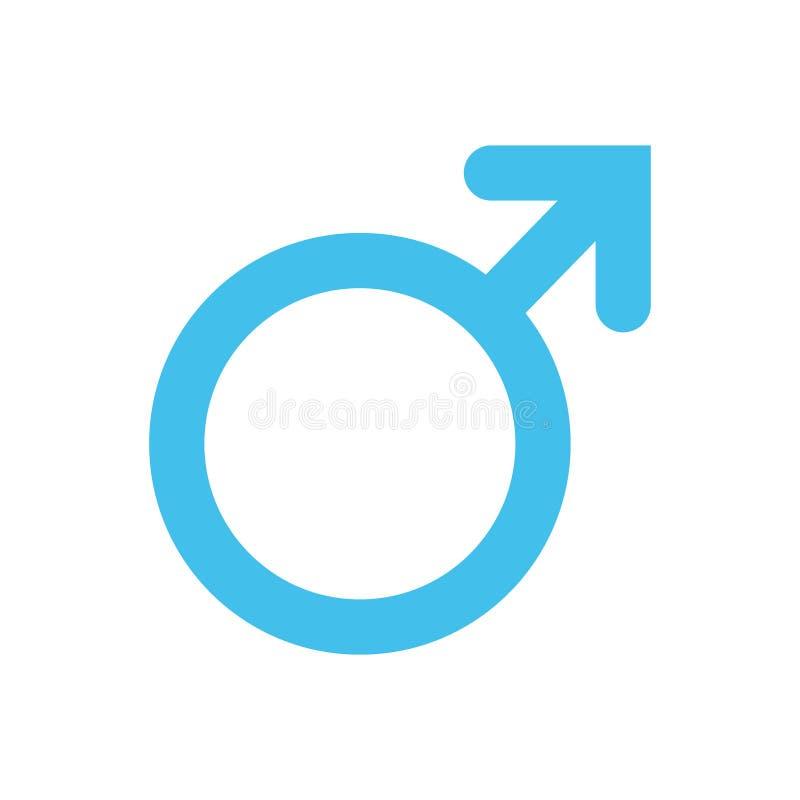 Man mansymbol Symbol för genus och för sexuell riktning eller teckenbegrepp stock illustrationer
