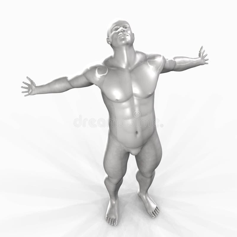 Download Man of Marble - 04 stock illustration. Illustration of stare - 2835657