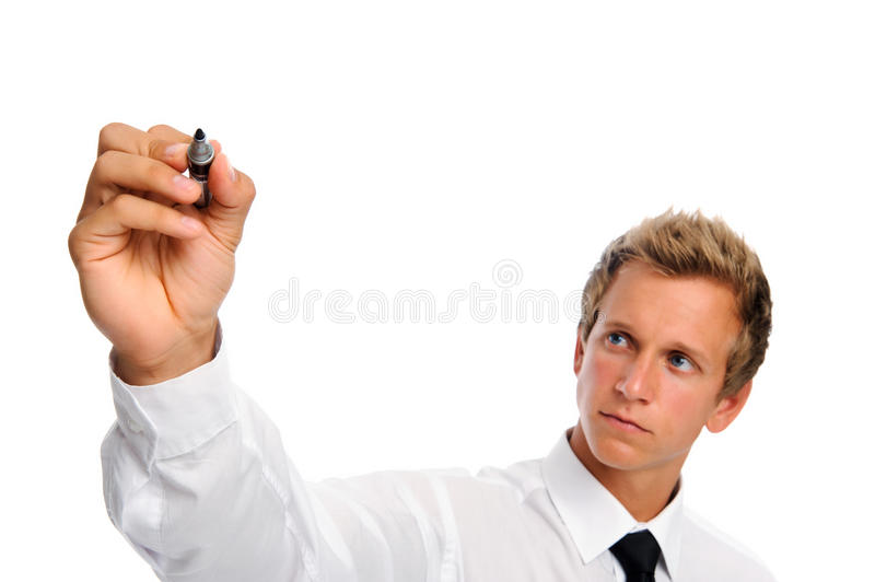 Man With Marker Stock Photos