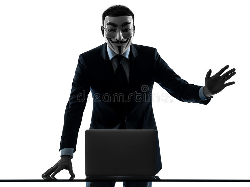 Download Man Masked Anonymous Group Member Computing Computer Saluting Si Editorial Photography - Image: 28754972