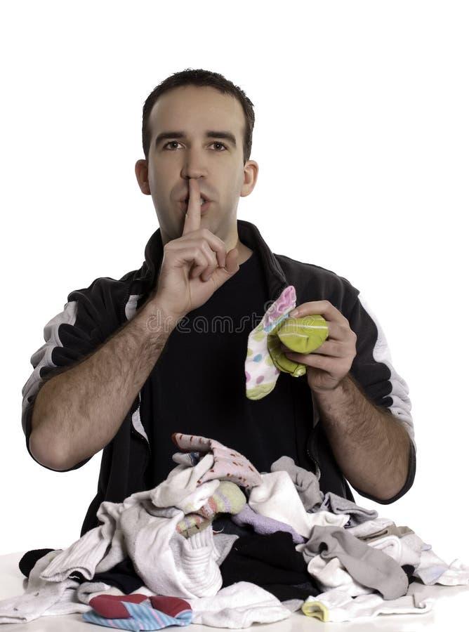 Download Man Matching Mixed Socks stock image. Image of stripes - 13132803