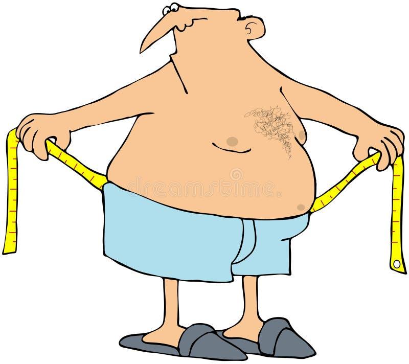 Download Man Measuring His Waist stock illustration. Image of cartoon - 16422650