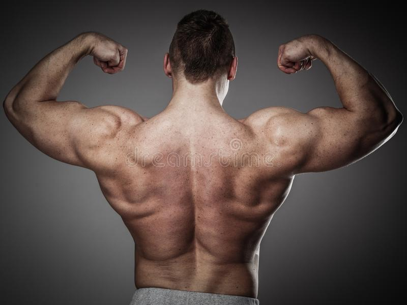 Man med den muskulösa torson arkivfoto