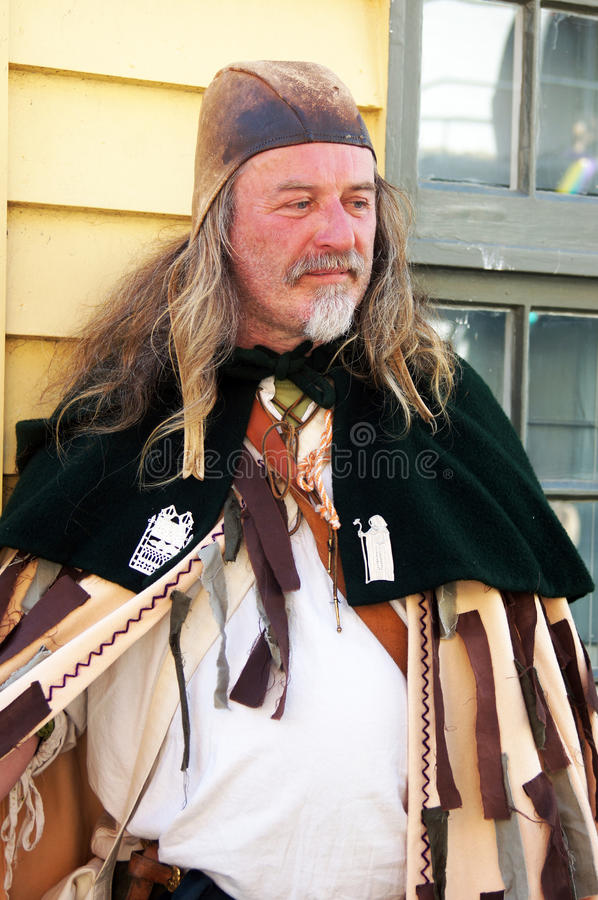 Man in medieval costume royalty free stock image