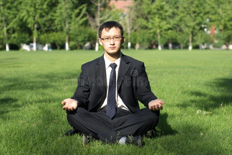 Man meditate royalty free stock images