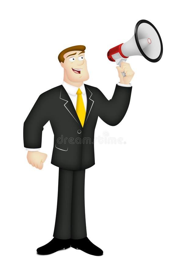 Man With Megaphone Royalty Free Stock Photos