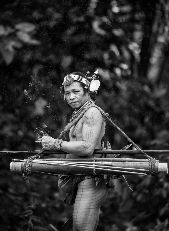 Free Man Mentawai Tribe In The Jungle. Royalty Free Stock Image - 81040676