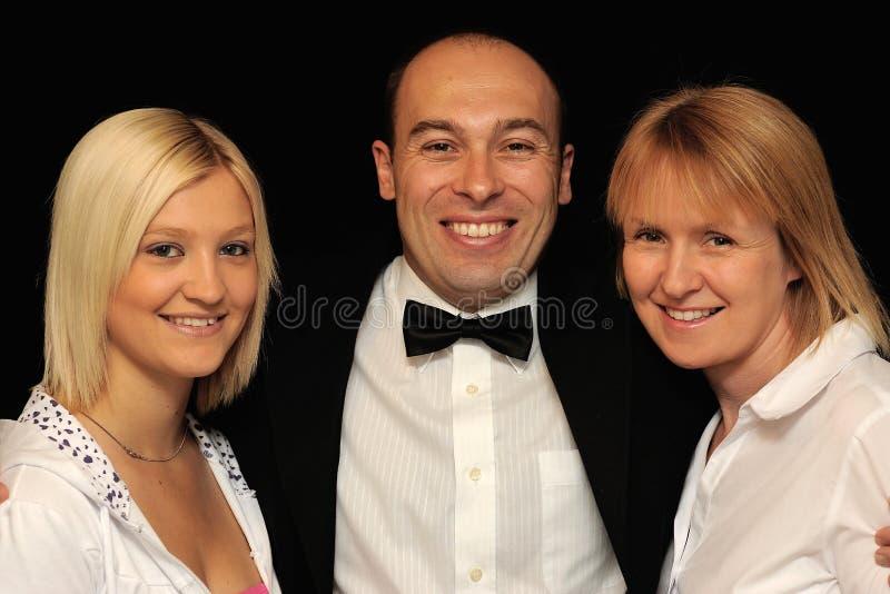 Man met twee vrouwen stock afbeeldingen