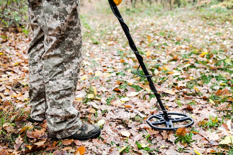 Jew Detector: Man With Metal Detector Stock Photo. Image Of Lost, Ground