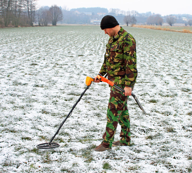Jew Detector: Man With Metal Detector Stock Photo. Image Of Hunter