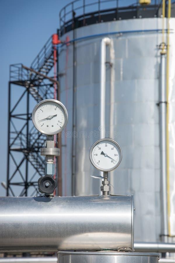 Manômetro de gás foto de stock royalty free