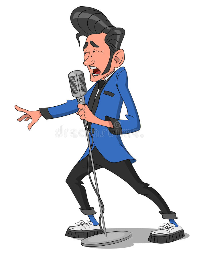 Man with microphone. Vector illustration stock illustration