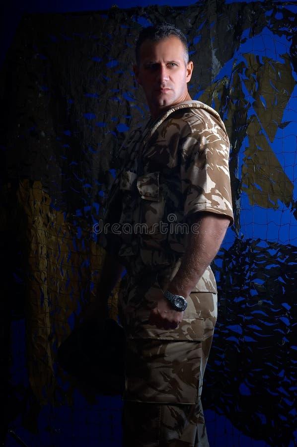 Man With Military Uniform Royalty Free Stock Photos
