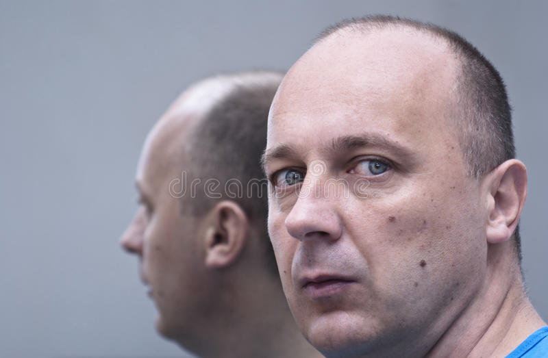 Download Man On The Mirror Royalty Free Stock Photos - Image: 31192098