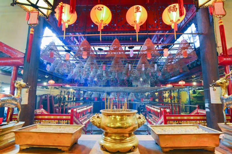 Man Mo Temple imagen de archivo