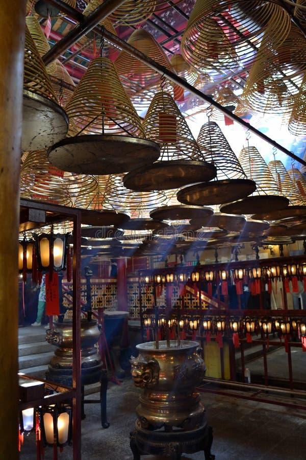 Man Mo Temple arkivfoton