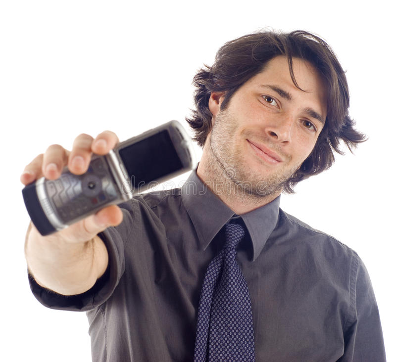 Download Man with Mobile Phone stock photo. Image of people, handsome - 13068154