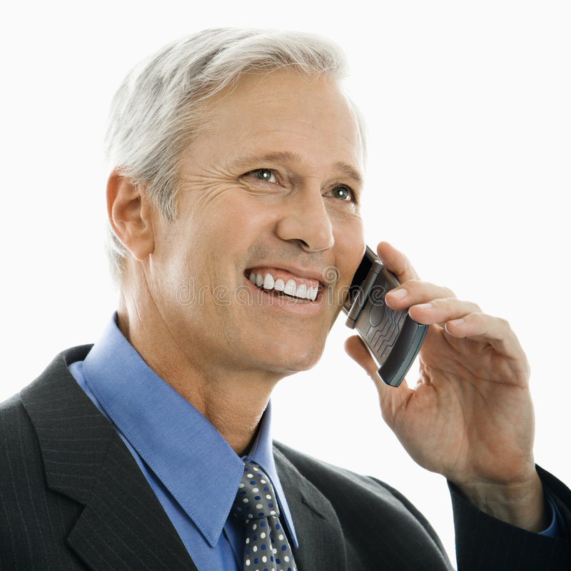 Man on mobile phone. stock images