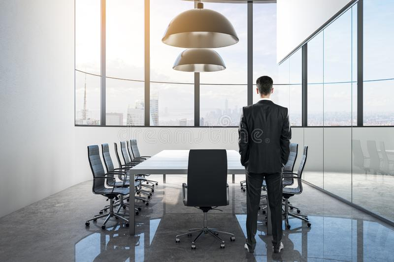 Man in modern conference room royalty free stock images