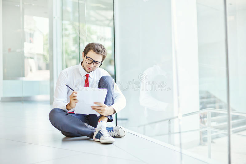 Man in the modern office royalty free stock photography