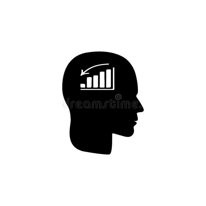 A man without mood icon. Illustration of psychological disorder of people icon. Premium quality graphic design. Signs and symbols. Icon for websites, web design vector illustration